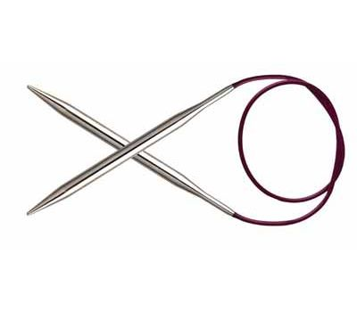 """60/2,50 Knit Pro Спицы круговые """"Nova Metal"""" никелированная латунь, серебристый, №2,5, 10312"""