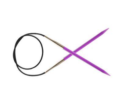 """120/5,00 Knit Pro Спицы круговые """"Trendz"""" 5,00мм/120см акрил, фиолетовый, 51145"""