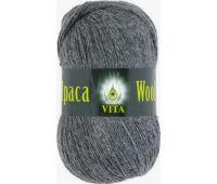 Vita Alpaka wool Темно-серый меланж
