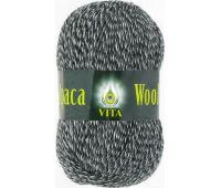 Vita Alpaka wool Черно белый меланж