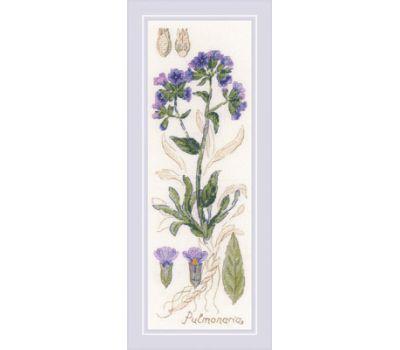 """1797 Набор для вышивания """"Риолис"""" Пульмонария 10*30 см, 1797"""
