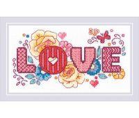 """1853 Набор для вышивания """"Риолис"""" Love 30*30 см"""