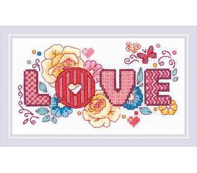 """1853 Набор для вышивания """"Риолис"""" Love 30*30 см, 1853"""