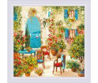 """1863 Набор для вышивания """"Риолис"""" Южный дворик 30*30 см"""