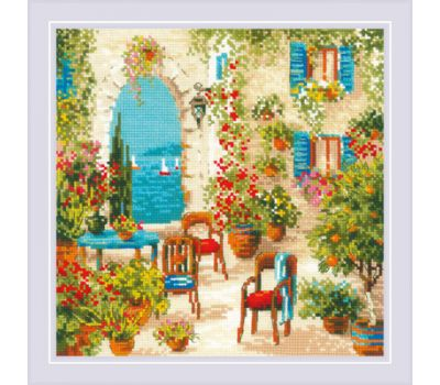 """1863 Набор для вышивания """"Риолис"""" Южный дворик 30*30 см, 1863"""