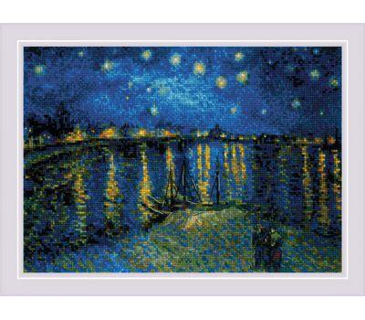"""1884 Набор для вышивания """"Риолис"""" Звездная ночь 38*26 см, 1884"""