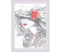 """1887 Набор для вышивания """"Риолис"""" Таинственная Роза 21*30 см"""