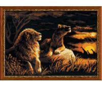 """1142 Набор для вышивания """"Риолис"""" Львы в саванне 40х30 см"""