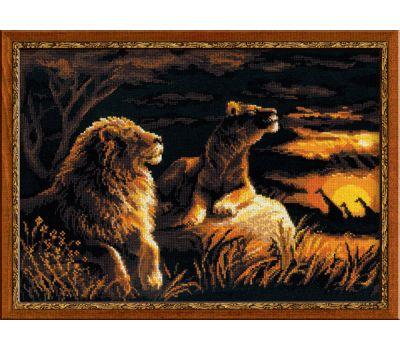 """1142 Набор для вышивания """"Риолис"""" Львы в саванне 40х30 см, 1142"""