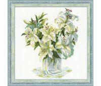 """1169 Набор для вышивания """"Риолис"""" Белые лилии 45х45 см"""