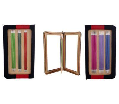 """47402 Knit Pro Набор чулочных спиц длиной 20см """"Zing"""" (в наборе: спицы чулочные-2,5мм, 3мм, 3,5мм, 4мм, 4,5мм, 5мм), алюминий, 6 видов спиц в наборе, 47402"""
