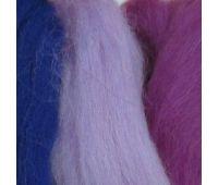 Пехорский текстиль Наборы для рукоделия Шерсть для валяния ПОЛУтонкая  Сиреневый микс