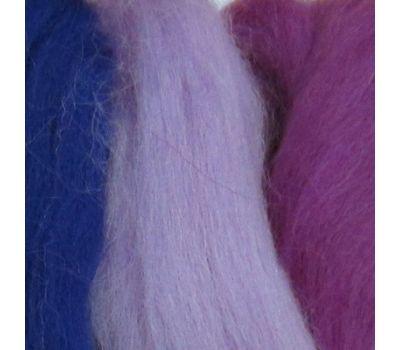 Пехорский текстиль Наборы для рукоделия Шерсть для валяния ПОЛУтонкая  Сиреневый микс, 1315