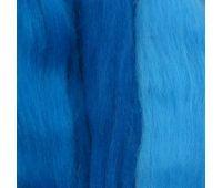 Пехорский текстиль Наборы для рукоделия Шерсть для валяния ПОЛУтонкая Голубой микс