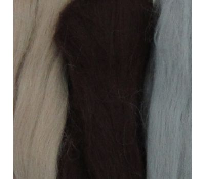 Пехорский текстиль Наборы для рукоделия Шерсть для валяния ПОЛУтонкая Бежевый микс, 1317