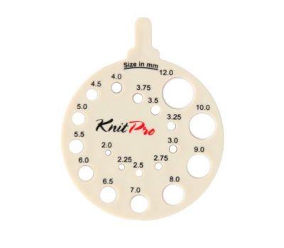 10991 Knit Pro Линейка круглая для определения номера спиц, пластик, бежевый, 10991