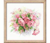 """1335 Набор для вышивания """"Риолис"""" Акварельные розы 30х30 см"""