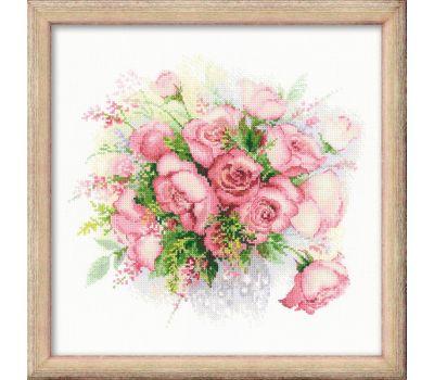 """1335 Набор для вышивания """"Риолис"""" Акварельные розы 30х30 см, 1335"""