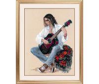 """1766 Набор для вышивания """"Риолис"""" Гитарист 30х40 см"""