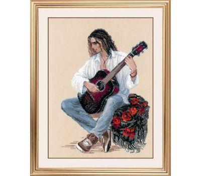 """1766 Набор для вышивания """"Риолис"""" Гитарист 30х40 см, 1766"""