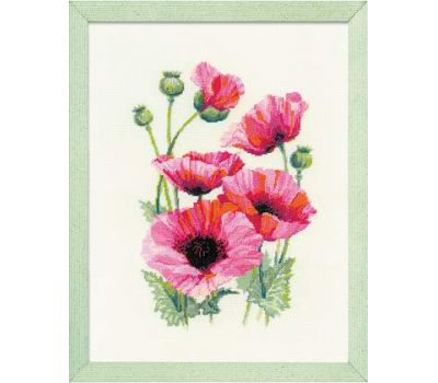 """1775 Набор для вышивания """"Риолис"""" Розовые маки 25х33 см, 1775"""