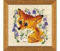 """1776 Набор для вышивания """"Риолис"""" Маленький лисенок 13х13 см"""