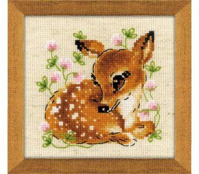 """1777 Набор для вышивания """"Риолис"""" Маленький олень 13х13 см, 1777"""