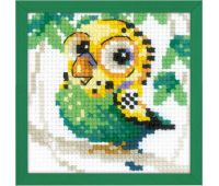 """1785 Набор для вышивания """"Риолис"""" Волнистый попугайчик 10х10см"""