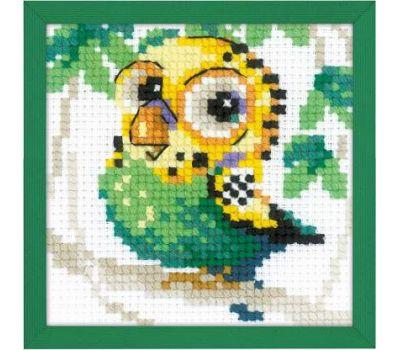 """1785 Набор для вышивания """"Риолис"""" Волнистый попугайчик 10х10см, 1785"""