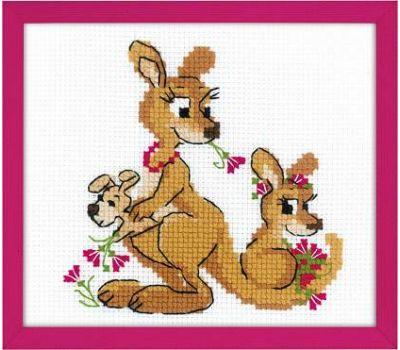 """1786 Набор для вышивания """"Риолис"""" Где гуляли кенгуру 18х15 см, 1786"""