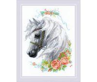 """1804 Набор для вышивания """"Риолис"""" Белогривая лошадка 30х40 см"""