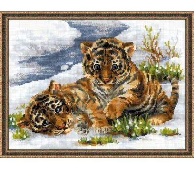 """1564 Набор для вышивания """"Риолис"""" Тигрятина в снегу 40х30 см, 1564"""