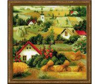 """1569 Набор для вышивания """"Риолис"""" Сербский пейзаж 40х40 см"""