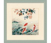 """1574 Набор для вышивания """"Риолис"""" Танцующие рыбки 40х40 см"""
