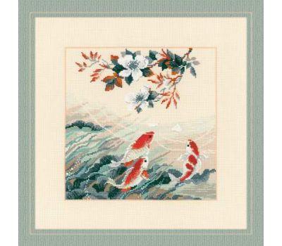 """1574 Набор для вышивания """"Риолис"""" Танцующие рыбки 40х40 см, 1574"""