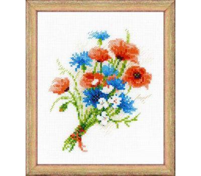 """1576 Набор для вышивания """"Риолис"""" Букет с васильками 15х18 см, 1576"""