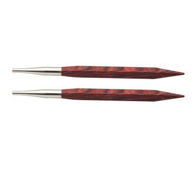 """5,00 Knit Pro Спицы съемные """"CUBICS"""" 5,0мм для длины тросика 28-126см, ламинированная береза, коричневый, 2шт в упаковке, 25403"""
