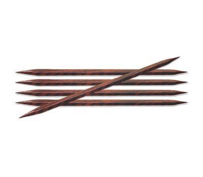 """20/6,00 Knit Pro Спицы чулочные """"Cubics"""" Дерево, коричневый, 5шт в упаковке №6.0, 25116"""