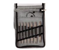 """41613 Knit Pro Набор """"Deluxe Set"""" съемных спиц """"Karbonz"""" (в наборе: спицы съемные (3мм, 3,5мм, 4мм, 4,5мм, 5мм, 5,5мм, 6мм), тросик (60см, 80см-2шт, 100см), загрушка с кабельный ключиком-4пары, кабельное соединение-1набор), карбон, чер"""