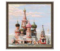 """1260 Набор для вышивания """"Риолис"""" Москва. Собор Василия Блаженного 40х40 см"""