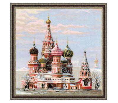 """1260 Набор для вышивания """"Риолис"""" Москва. Собор Василия Блаженного 40х40 см, 1260"""