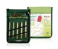 """22541 Knit Pro Набор """"Starter"""" съемных спиц """"Bamboo"""" (в наборе: спицы съемные (3мм, 3,5мм, 4мм, 4,5мм, 5мм), тросик (60см, 80см, 100см), заглушки - 6шт, кабельный ключик - 3шт, кабельное соединение - 1 набор), японский бамбук, 5 видов"""