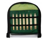 """22565 Knit Pro Набор """"Special Interchangeable Needle Set"""" съемных спиц """"Bamboo"""" (в наборе: спицы съемные (3,5мм, 3,75мм, 4мм, 4,5мм, 5мм, 5,5мм, 6мм) длина 10см, тросик 40см - 2шт, заглушки - 4шт, кабельный ключик - 2шт, классификатор"""