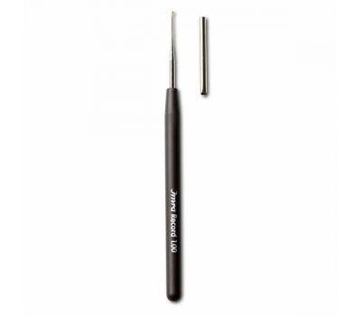 12,5/0,60 Prym Крючок для пряжи 0,60мм, с защитным колпачком и пластиковой ручкой (сталь, пластик), серебристый/коричневый, 175625