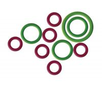 "10801 Knit Pro Маркер для вязания ""Кольцо"" (кольца: 16,5мм-10шт, 10мм-20шт, 6мм-20шт), пластик, зеленый/красный"