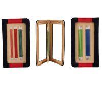 """47401 Knit Pro Набор чулочных спиц длиной 15см """"Zing"""" (в наборе: спицы чулочные-2мм, 2,5мм, 3мм, 3,5мм, 4мм), алюминий, 5 видов спиц в наборе"""