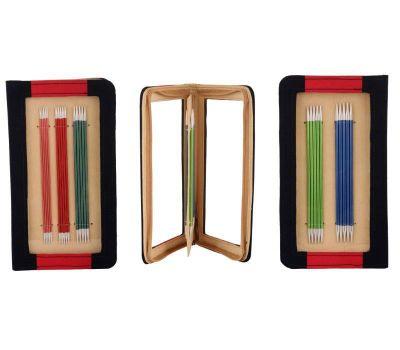"""47401 Knit Pro Набор чулочных спиц длиной 15см """"Zing"""" (в наборе: спицы чулочные-2мм, 2,5мм, 3мм, 3,5мм, 4мм), алюминий, 5 видов спиц в наборе, 47401"""