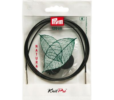 223984 Prym Леска съемная 120см пластик, с 2-мя наконечниками и устройством для монтажа, комбинируется со съемными спицами, 1шт, 223984