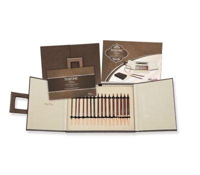 """20617 Knit Pro Подарочный набор """"IC Deluxe"""" съемных спиц """"Special Sets"""" (в наборе: бокс (искуственная кожа), спицы съемные (3,5мм, 4мм, 4,5мм, 5мм, 5,5мм, 6мм, 7мм, 8мм), тросик (60см, 80см-2шт, 100см), заглушка с ключиком-4 пары, кабе"""