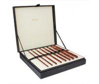 """20736 Knit Pro Подарочный набор крючков для вязания """"Special Sets"""" (в наборе: картонный бокс обтянутый тканью, крючок со стразами: 3,5мм, 4мм, 4,5мм, 5мм, 5,5мм, 6мм, 7мм, 8мм), дерево, 8 видов крючков в наборе"""